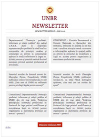 Newsletter aprilie - mai 2016